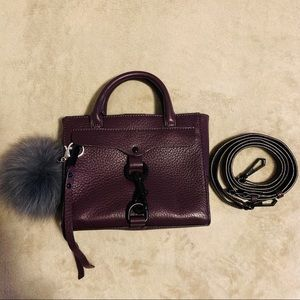 REBECCA MINKOFF Burgundy purple structured bag